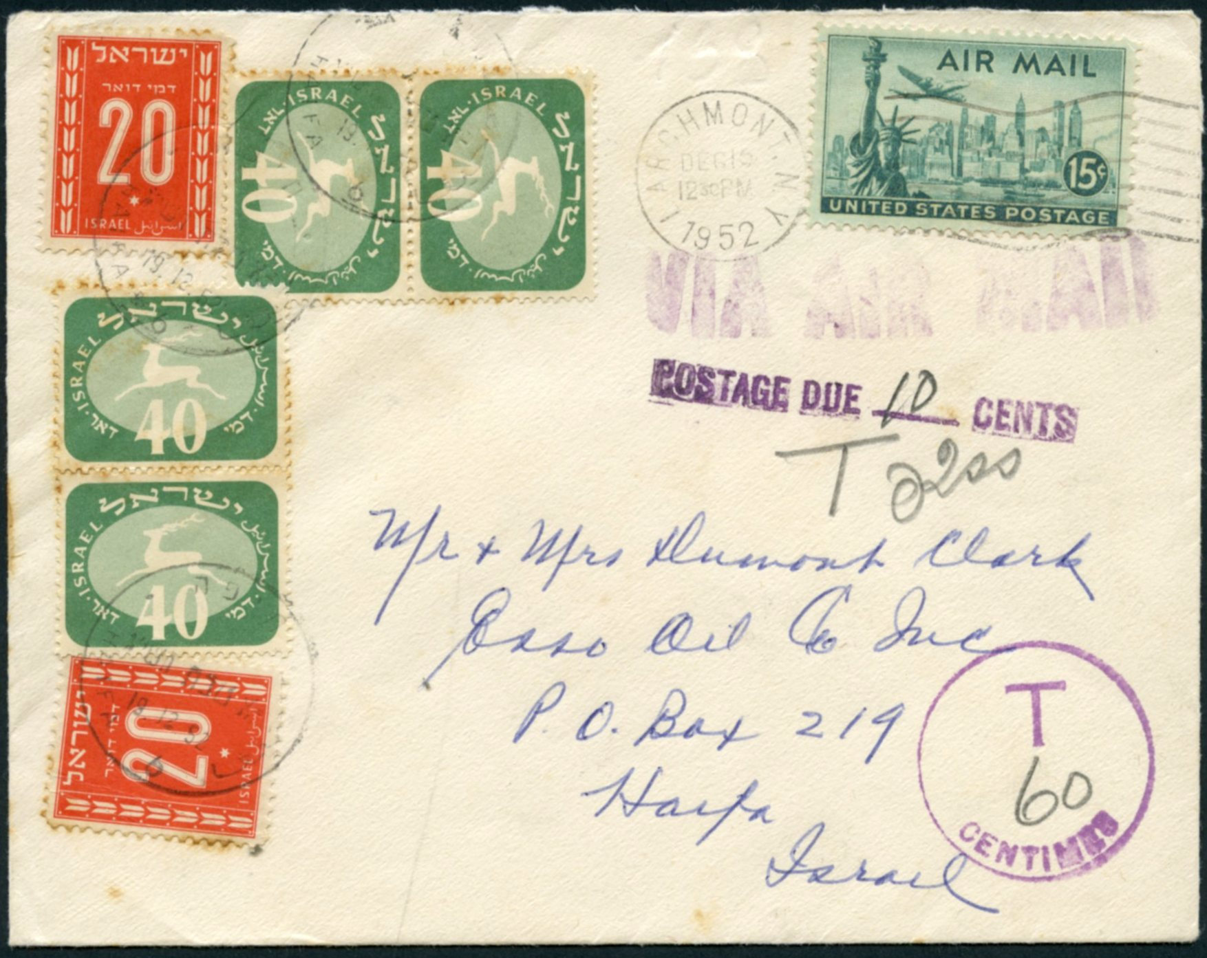 Stamp Auction Israel Postal History Auction 45 Lot 324