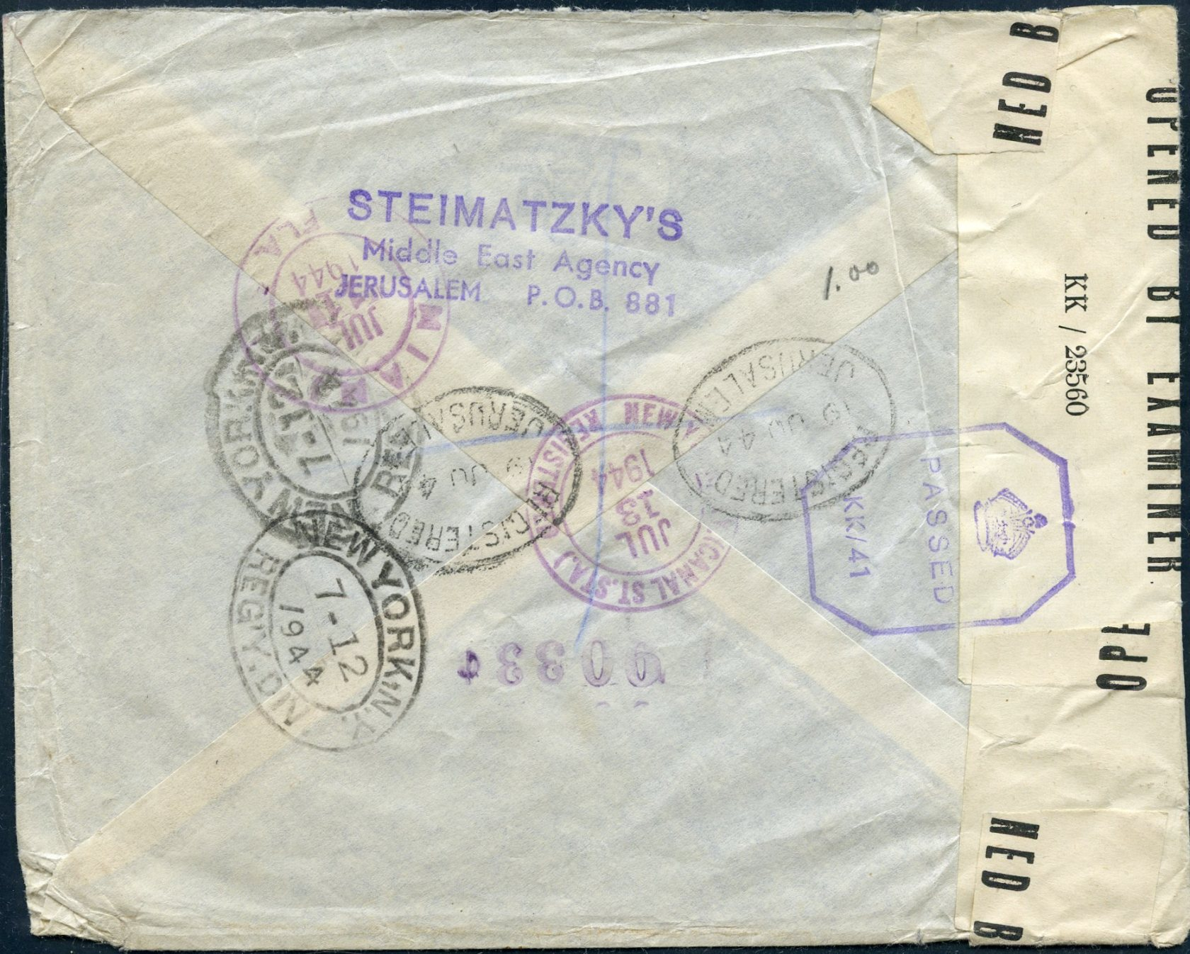 Lot 20 - AIR MAIL (Palestine related incl. Zeppelin, crashes & WWII)  -  Tel Aviv Stamps Ltd. Auction #49