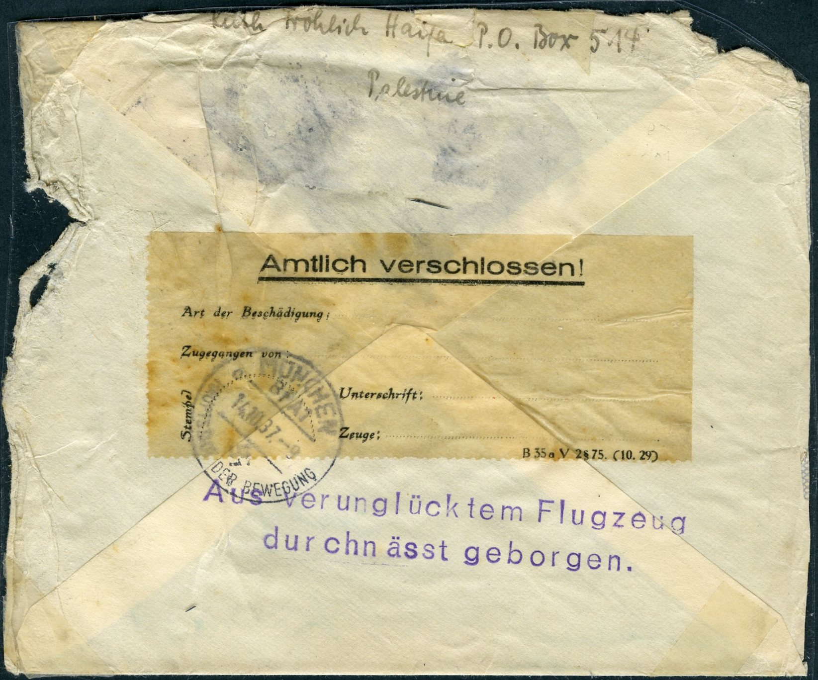 Lot 17 - AIR MAIL (Palestine related incl. Zeppelin, crashes & WWII)  -  Tel Aviv Stamps Ltd. Auction #49